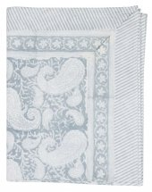 Table Cloth Duk Big Paisley Cashmere Blue