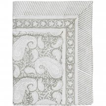 Table Cloth Big Paisley Light Grey, 3 sizes