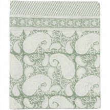 "Table Cloth Big Paisley ""Sea Foam Green"" 3 sizes"