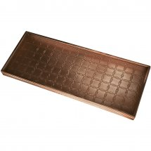 Bronze boot tray with circle pattern by Calibo.