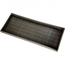 Black boot tray equestrian style by Calibo.