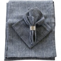 Linen table cloth Catalina Deep Blue