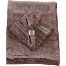 Linen napkins Cherry Red Stripe