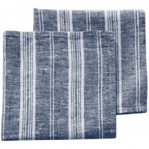 Linen napkins Catalina Deep Blue Stripe
