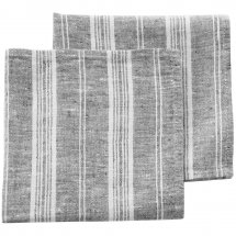 Linen napkins Catalina Graphite Grey Stripe