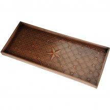 Boot tray with stars. Color bronze.