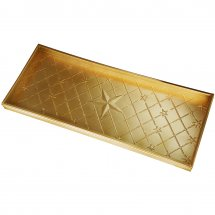 Boot tray with stars. Color brass.