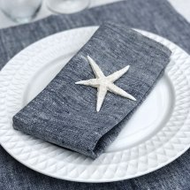 Linen napkins Catalina Deep Blue