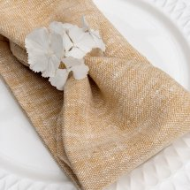 Linen napkins Catalina Harvest Yellow