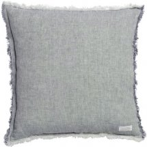 Linen cushion cover Chambray blue - Chamois