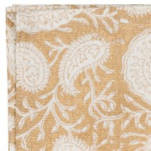 Tygservetter Big Paisley Gold, 2-pack