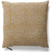Linen cushion cover Leaf Ochre