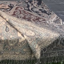 Throw Paisley Black Beige