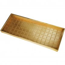 Boot tray with circles. Color brass.
