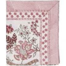 Table Cloth Floral Ruby