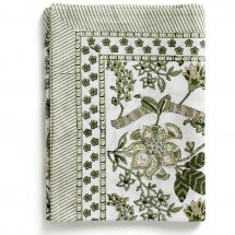 Table Cloth Floral Olive