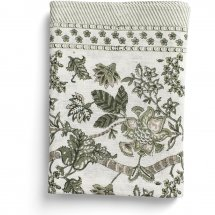 Linen Table Cloth Floral Olive