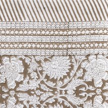 Cotton table cloth Paradise Light Brown