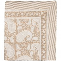 "Table Cloth Big Paisley ""Gold"" 2 sizes"