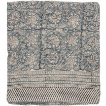 Linen table cloth Paradise Blue