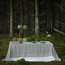 Linen table cloth Paradise Green