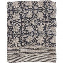 Linen table cloth Paradise Dark Blue