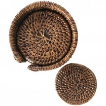 Set of rattan coasters by Baolgi.