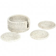 Set of coasters in rattan