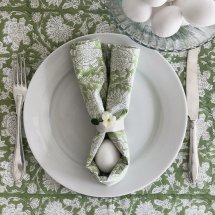 Cotton table cloth Paradise Green