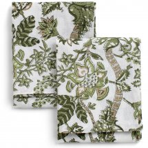 Kitchen cloth Floral Olive