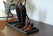 Boot tray Horse Shoe  Black