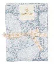 "Kitchen towel, set with 2 ""Big Paisley Cashmere Blue"""