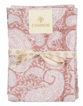 "Kitchen towel, set with 2 ""Big Paisley Fuchsia Rose"""