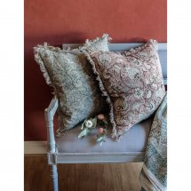 Linen cushion cover Pomegranate Rust