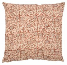 Linen cushion cover Meadow Spicy Red