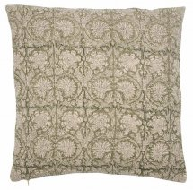 Linen cushion cover Paradise Green