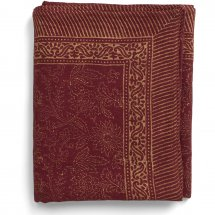 Linen table cover Pomegranate Rust