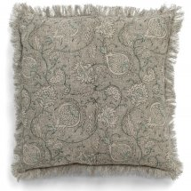 Linen cushion cover Pomegranate Grey