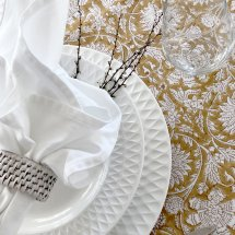Cotton table cloth Lion Yellow