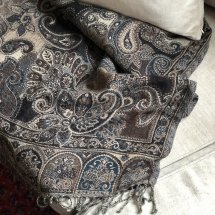 Throw Blue Brown Paisley