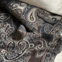 Pläd Paisley Blue Brown