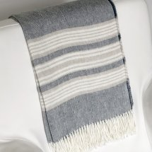 Linen throw Breeze Indigo