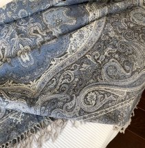 Throw Blue Paisley