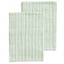 2 kitchen towels Electric Stripe Green