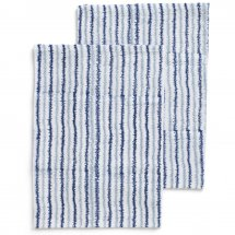 2 kitchen towels Electric Stripe Navy Blue