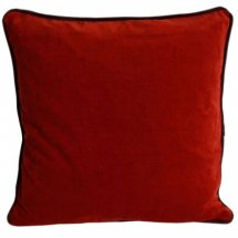 Velvet cushion cover Rust