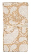 Striped napkins 2 pc. Big Paisley Gold