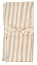 Striped napkins 2 pc. Gold