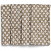 Napkins Medallion Light Brown