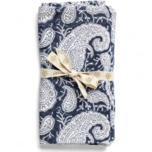 Napkins Big Paisley Navy